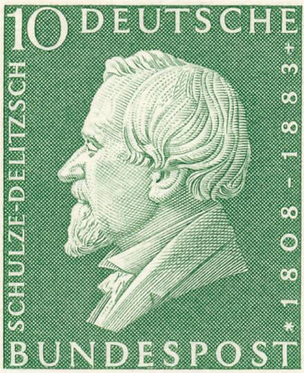 Briefmarke zu Ehren Schulze-Delitzsch
