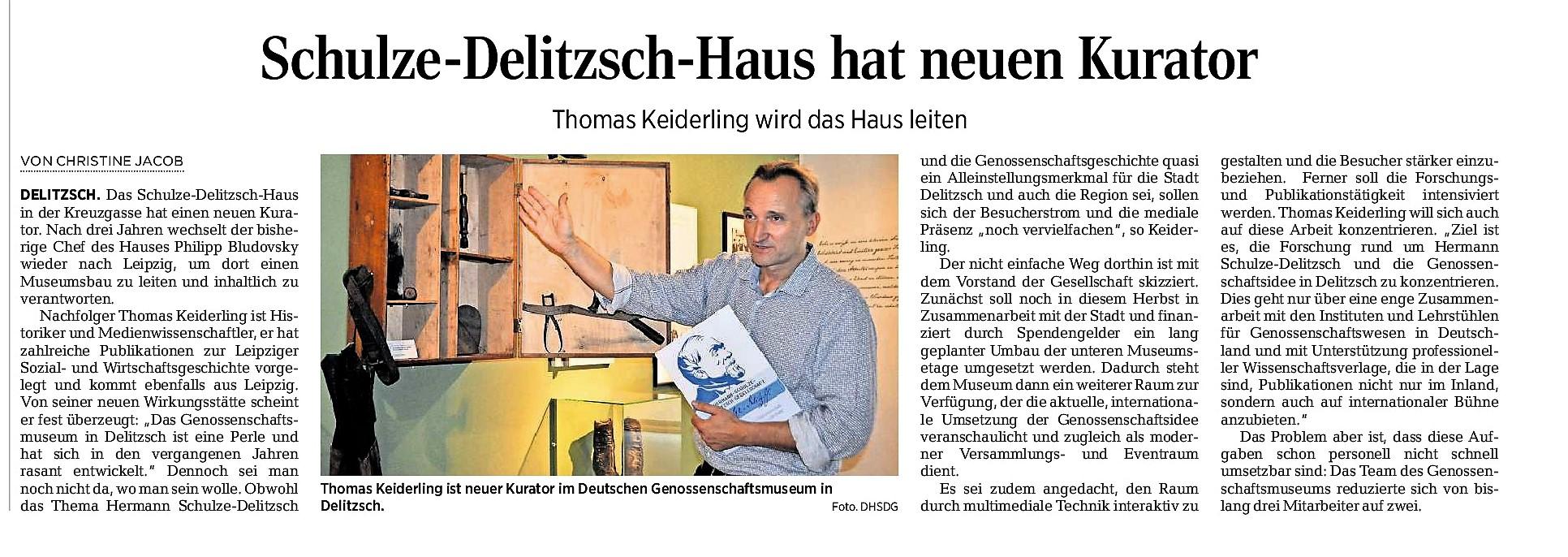 Leitender Kurator Deutsches Genossenschaftsmuseum